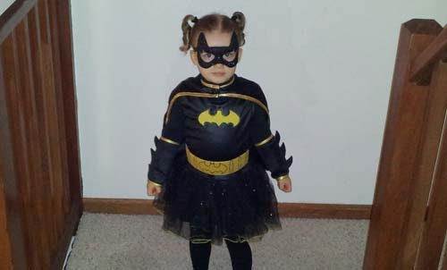 Batgirl Costume & Batgirl Costume for our three year old girl!